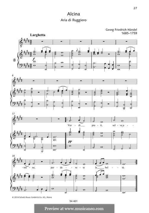 Alcina, HWV 34: Verdi prati by Georg Friedrich Händel