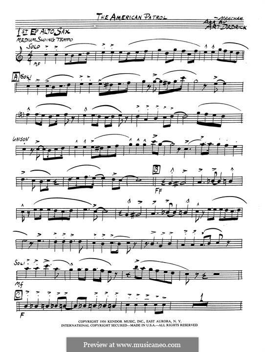 American Patrol, Op.92: 1st Eb alto saxophone part by Frank W. Meacham