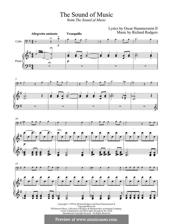 The Sound of Music: para Violoncelo e piano by Richard Rodgers