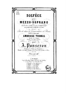 Solfeggio for Mezzo-soprano: Solfeggio for Mezzo-soprano by Auguste-Matthieu Panseron