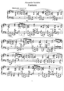 Fantasia in B Minor, Op.28: Para Piano by Alexander Scriabin