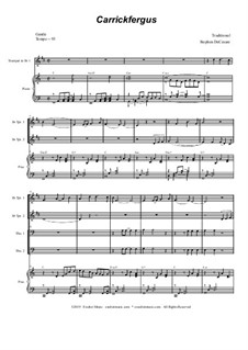 Carrickfergus: For brass quartet and piano - alternate version by folklore