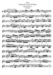 String Quartet No.38 in E Flat Major, Hob.III/46 Op.50 No.3: violino parte I by Joseph Haydn
