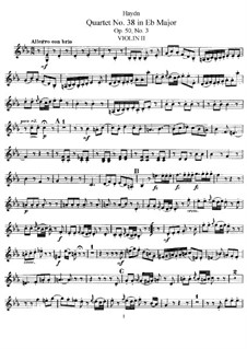 String Quartet No.38 in E Flat Major, Hob.III/46 Op.50 No.3: violino parte II by Joseph Haydn