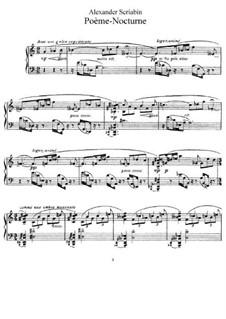 Poème-nocturne, Op.61: Para Piano by Alexander Scriabin
