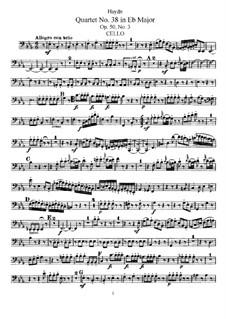 String Quartet No.38 in E Flat Major, Hob.III/46 Op.50 No.3: parte violoncelo by Joseph Haydn