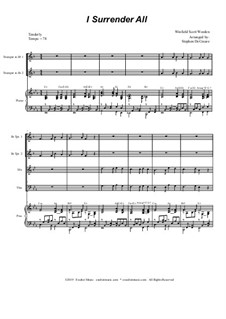 I Surrender All: For brass quartet and piano by Winfield Scott Weeden