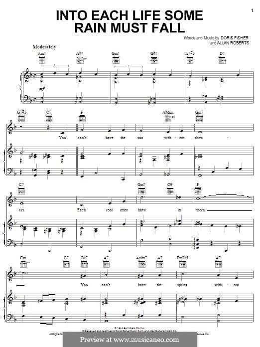 Into Each Life Some Rain Must Fall (Ella Fitzgerald): Para vocais e piano (ou Guitarra) by Allan Roberts, Doris Fisher