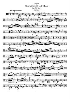 String Quartet No.40 in F Major, Hob.III/48 Op.50 No.5: parte viola by Joseph Haydn