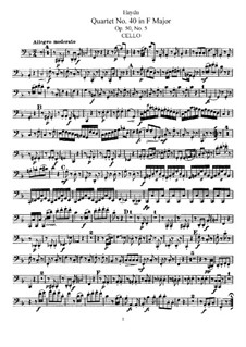 String Quartet No.40 in F Major, Hob.III/48 Op.50 No.5: parte violoncelo by Joseph Haydn