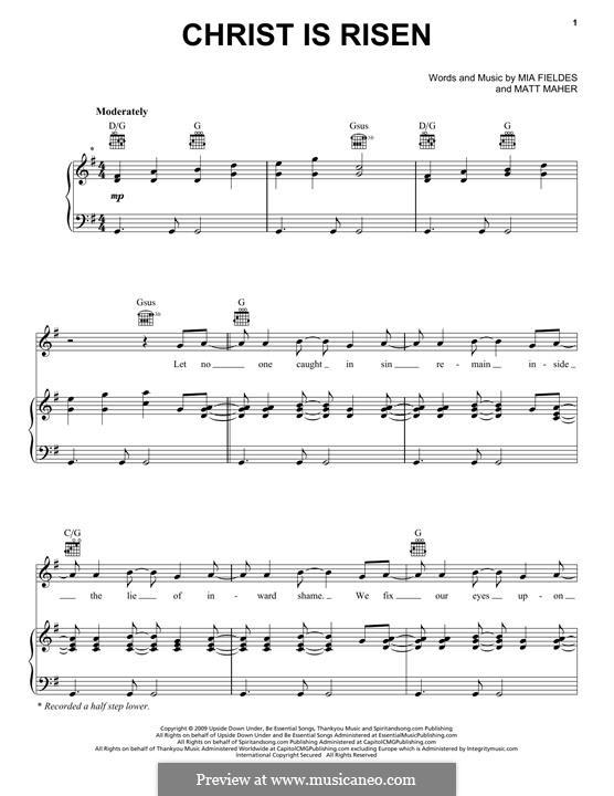 Christ is Risen: Para vocais e piano (ou Guitarra) by Matt Maher, Mia Fieldes