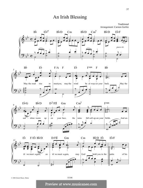 An Irish Blessing: Para Piano by folklore