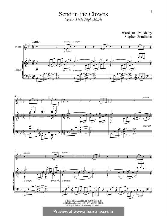 Send in the Clowns (from A Little Night Music): para flauta e piano by Stephen Sondheim