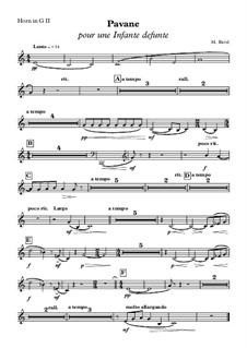 Pavane pour une infante défunte (Pavane for a Dead Princess), M.19: Horn in G II part by Maurice Ravel