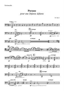 Pavane pour une infante défunte (Pavane for a Dead Princess), M.19: parte violoncelo by Maurice Ravel