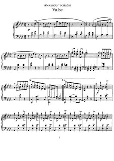 Waltz in F Minor, Op.1: Para Piano by Alexander Scriabin