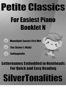 Petite Classics for Easiest Piano Booklet N: Petite Classics for Easiest Piano Booklet N by Carl Philipp Emanuel Bach, Ludwig van Beethoven, Émile Waldteufel