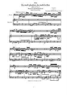 20 Arias from Cantatas for Bassoon and Harpsichord: Aria (Du mußt glauben, du mußt hoffen), BWV 155 No.2 by Johann Sebastian Bach