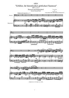 20 Arias from Cantatas for Bassoon and Harpsichord: Aria (Erfüllet, ihr himmlichen, göttlichen Flammen), BWV 1 No.3 by Johann Sebastian Bach