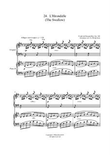 No.24 L'Hirondelle: para dois pianos by Johann Friedrich Burgmüller