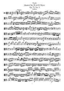String Quartet No.56 in E Flat Major, Hob.III/71 Op.71 No.3: parte viola by Joseph Haydn