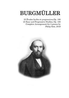 Complete set: para dois pianos by Johann Friedrich Burgmüller
