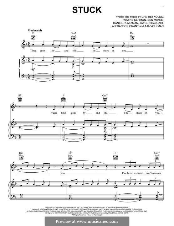 Stuck (Imagine Dragons): Para vocais e piano (ou Guitarra) by Alexander Grant, Jayson Dezuzio, Benjamin McKee, Daniel Reynolds, Daniel Platzman, Wayne Sermon
