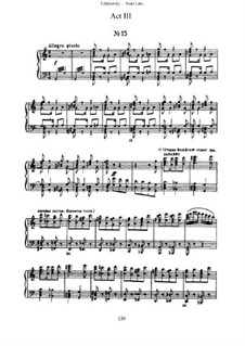 Fragments: Acts III-IV, for piano by Pyotr Tchaikovsky