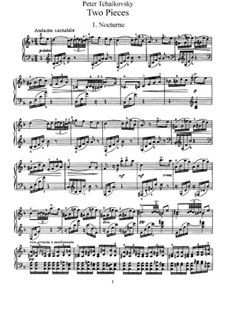 Two Pieces for Piano, TH 132 Op.10: set completo by Pyotr Tchaikovsky
