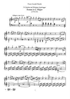Sonata for Piano No.48 in C Major, Hob.XVI/35: para um único musico (Editado por H. Bulow) by Joseph Haydn
