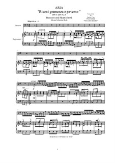 20 Arias from Cantatas for Bassoon and Harpsichord: Aria (Ricetti gramezza e pavento), BWV 209 No.5 by Johann Sebastian Bach