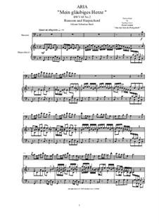 20 Arias from Cantatas for Bassoon and Harpsichord: Aria (Mein gläubiges Herze), BWV 68 No.2 by Johann Sebastian Bach
