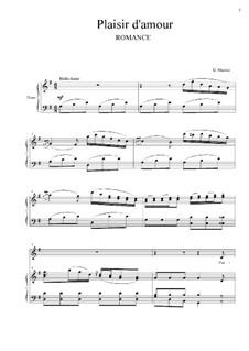 Plaisir d'Amour (The Joys of Love): Para vocais e piano by Jean Paul Egide Martini