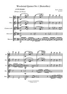 Woodwind Quintet No.1 (Butterflies): Woodwind Quintet No.1 (Butterflies) by Juan Davila