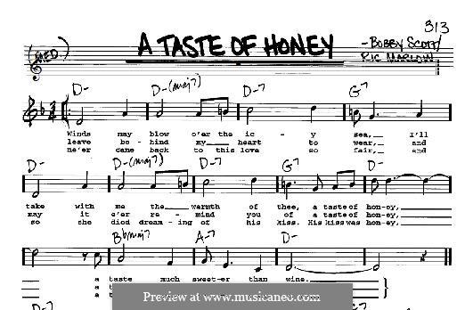 A Taste of Honey (Barbra Streisand): melodia by Bobby Scott
