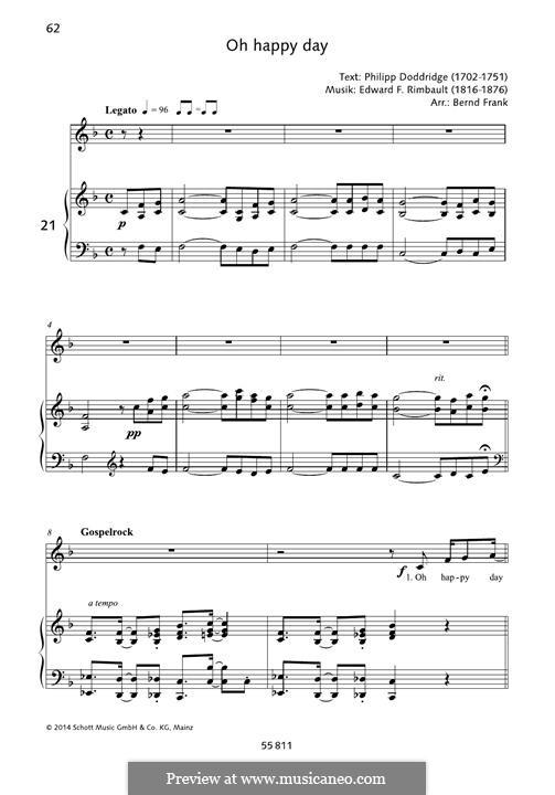 Oh happy day: Para vocais e piano by folklore, Edward Francis Rimbault