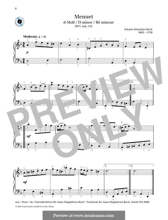 Minuet in D minor: Minuet in D minor by Johann Sebastian Bach