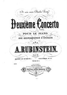 Concerto for Piano and Orchestra No.2 in F Major, Op.35: Versão para dois pianos de quatro mãos by Anton Rubinstein