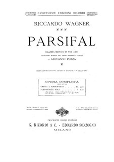 Complete Opera: Para Piano by Richard Wagner
