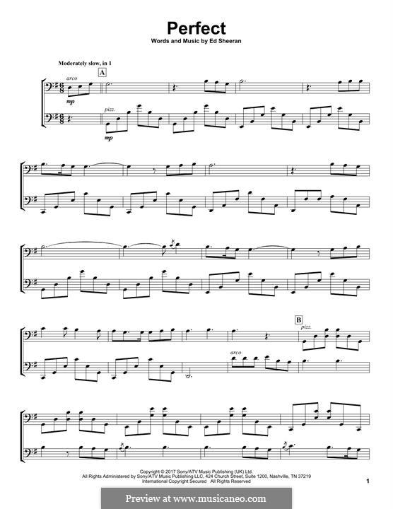Perfect: para dois violoncelo by Ed Sheeran