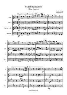 Marching Rondo: Para quarteto de sopro by Jordan Grigg