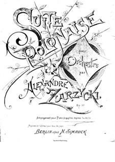 Suite Polonaise, Op.37: Suite Polonaise by Aleksander Zarzycki