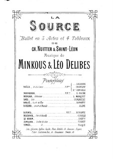 La source, ou Naïla (The Spring): partitura para piano by Léo Delibes