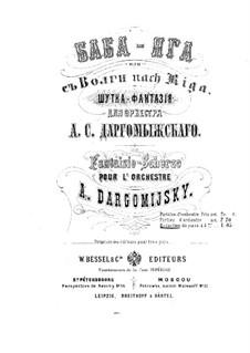 Baba-Yaga: para piano de quadro mãos by Alexander Dargomyzhsky