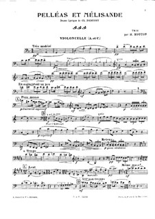 Pelléas et Mélisande, L.88: Para trio de piano - parte em violoncelo by Claude Debussy
