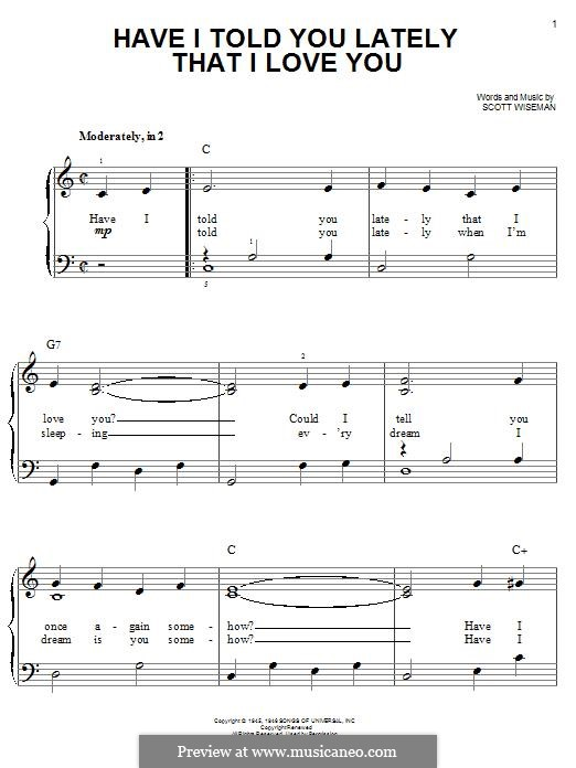 Have I Told You Lately That I Love You: Para Piano by Scott Wiseman