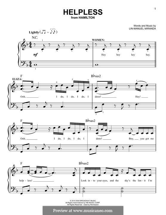 Helpless (Ashanti & Ja Rule): Para Piano by Lin-Manuel Miranda