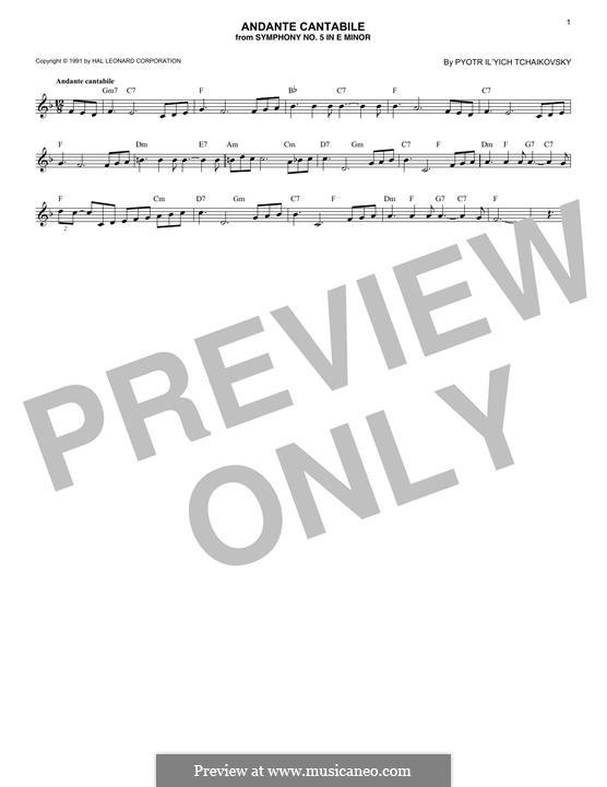 Movement II: Arrangement for trumpet (theme) by Pyotr Tchaikovsky