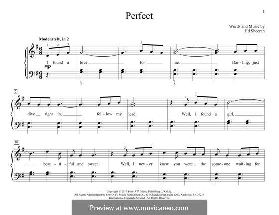 Perfect: Para Piano by Ed Sheeran