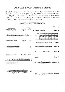 Polovtsian Dances: partitura completa by Alexander Borodin